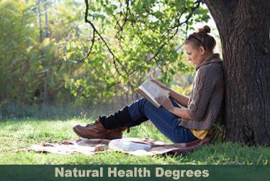 natural health student reading